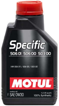 Моторное масло MOTUL SPECIFIC VW 506 01 506 00 503 00 0w30