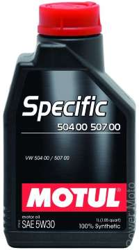 Моторное масло MOTUL SPECIFIC VW 504 00 507 00 5W30