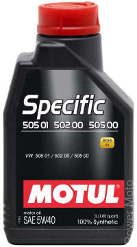 Моторное масло MOTUL SPECIFIC VW 505 01 502 00 5W40