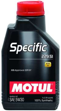 Моторное масло MOTUL SPECIFIC MB 229.51 5W-30