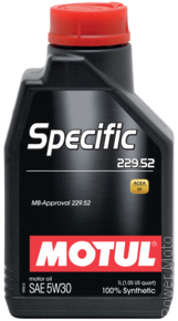 Моторное масло MOTUL SPECIFIC MB 229.52 5W-30